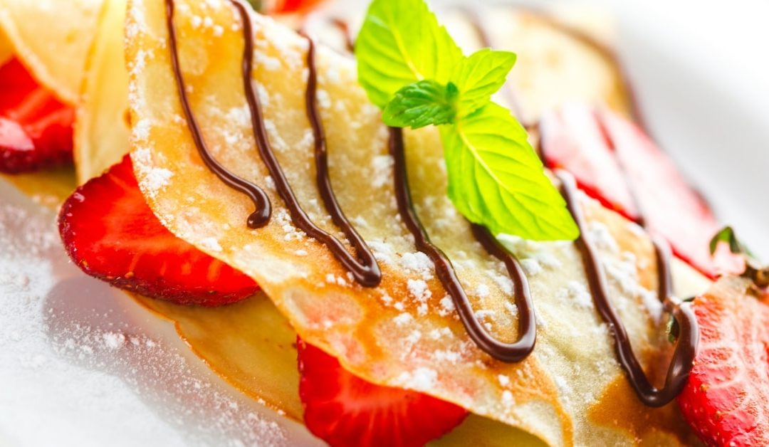Beautiful Strawberry Crepes